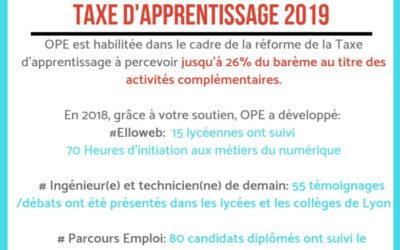 Taxe d'apprentissage 2019: Soutenez OPE!