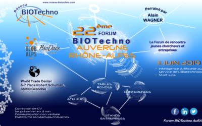OPE partcipera au forum BIOTechno Auvergne Rhône-Alpes le 11/06/2019 à Grenoble