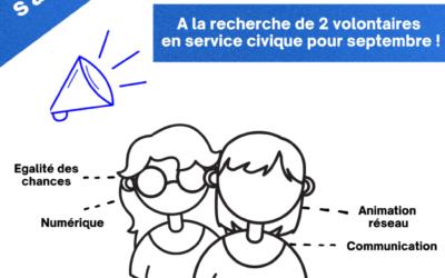 OPE s'agrandit et recherche 2  volontaires en service civique pour le 23/08/2021!